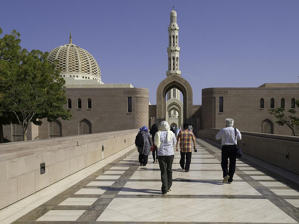 Wir besuchen die schönste Moschee des Landes.