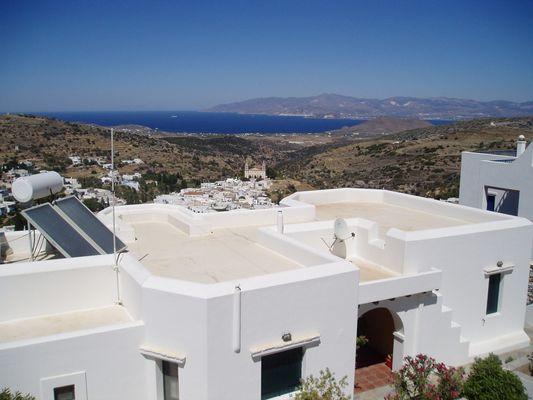 Wir fahren zum Baden an die Bucht von Molos auf Paros