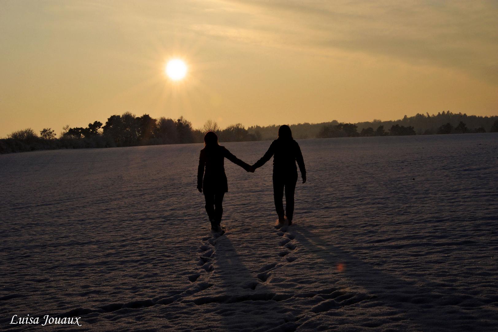 Wir laufen der Sonne entgegen