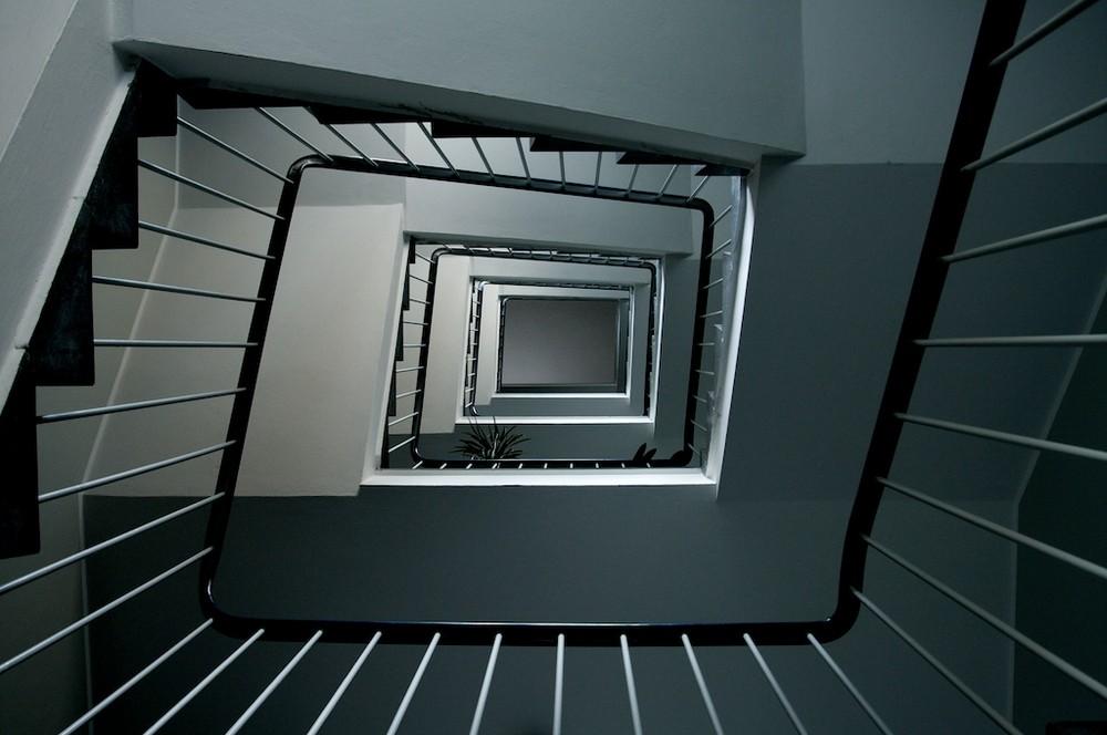 Wirbelndes Treppenhaus
