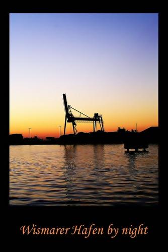 Wismar by night