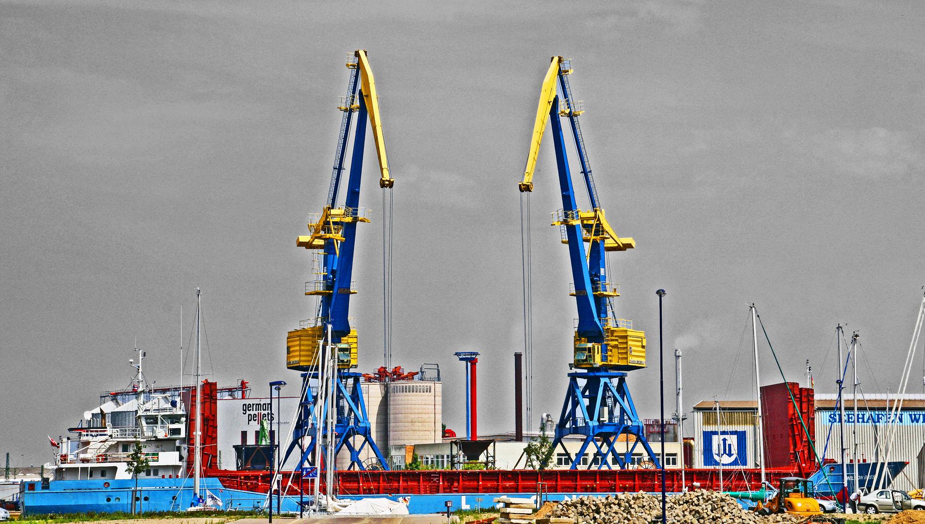 Wismar im Hafen
