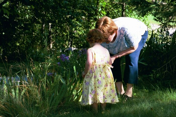 With Grandma in the Garden