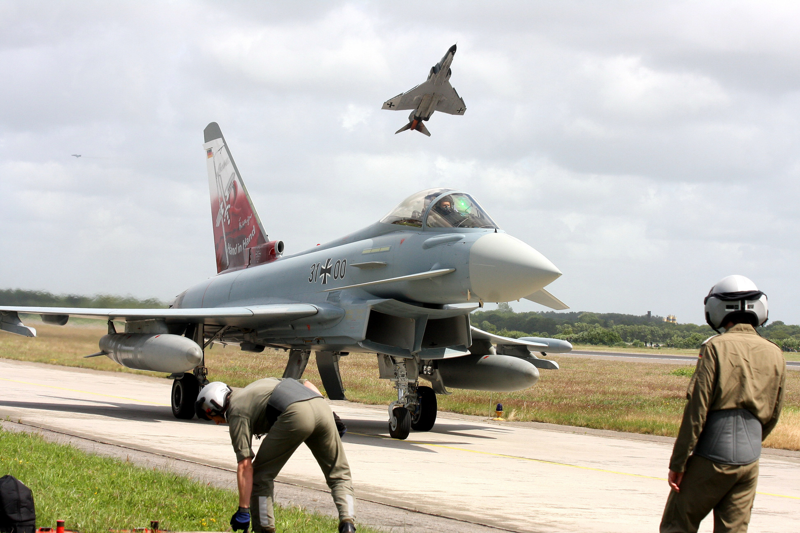 With the arrival of the Eurofighter, the Phantom is leaving Wittmund in style