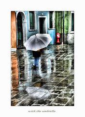 with the umbrella