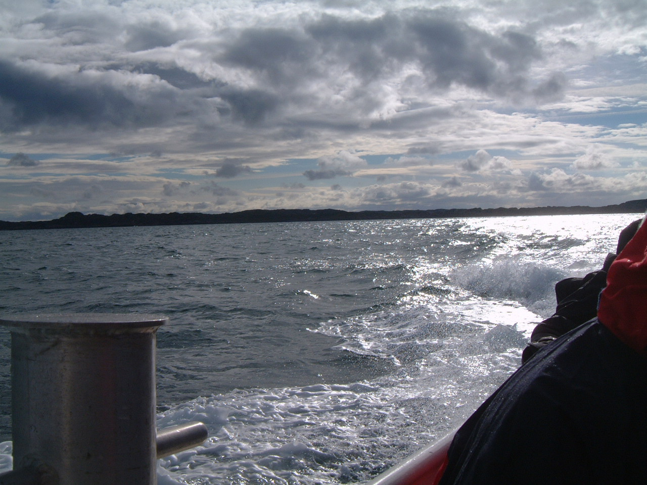 Within a small Boat to Staffa Island