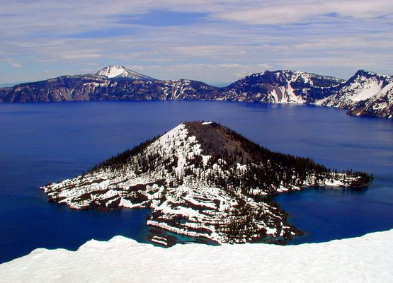 Wizard Island im Crater Lake, Oregon