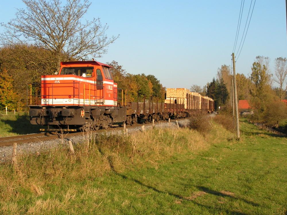 WLE Lok 05 auf der Möhnetalbahn