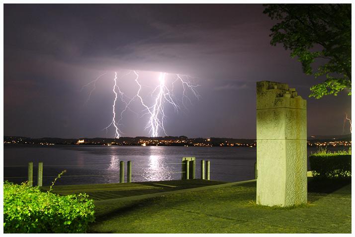 Wo Blitze mit Kunst konkurrieren