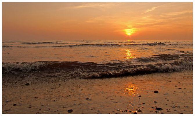 Wo de Nordseewellen trecken an de Strand