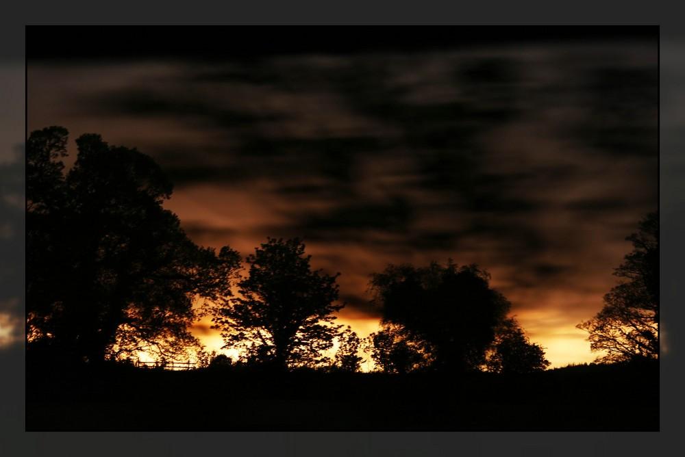 Wo die Nacht den Tag verdrängt...