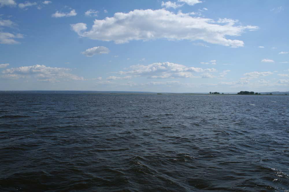 Wo ist das Ufer? Na ja, das ist Wolga.
