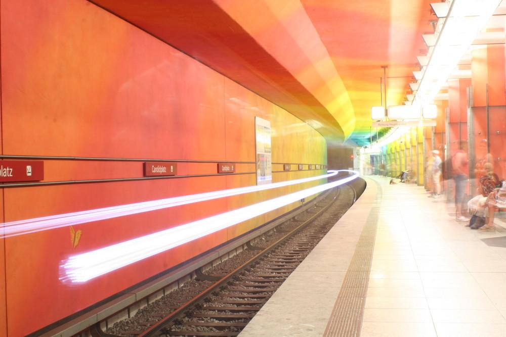 Wo ist die Bahn zu diesen Lichtern?