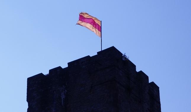 Wo kann man diese Fahne sehen?