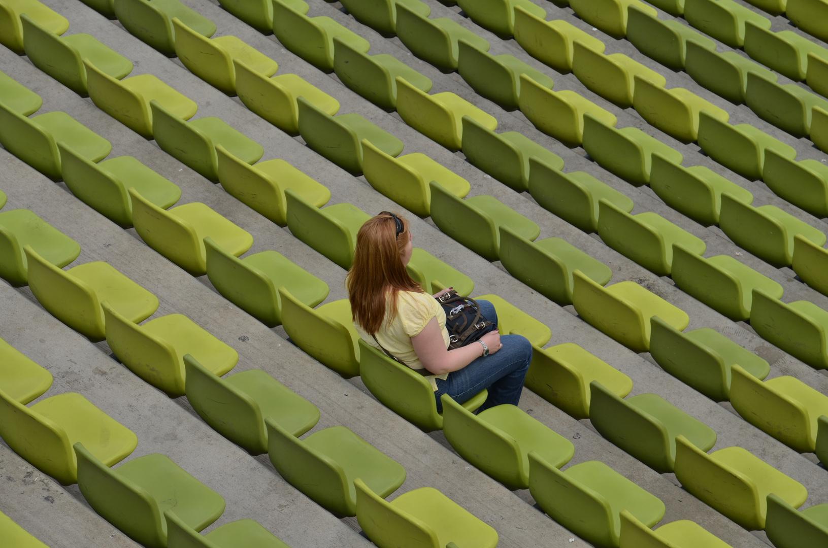 Wo sind denn die anderen Zuschauer?!