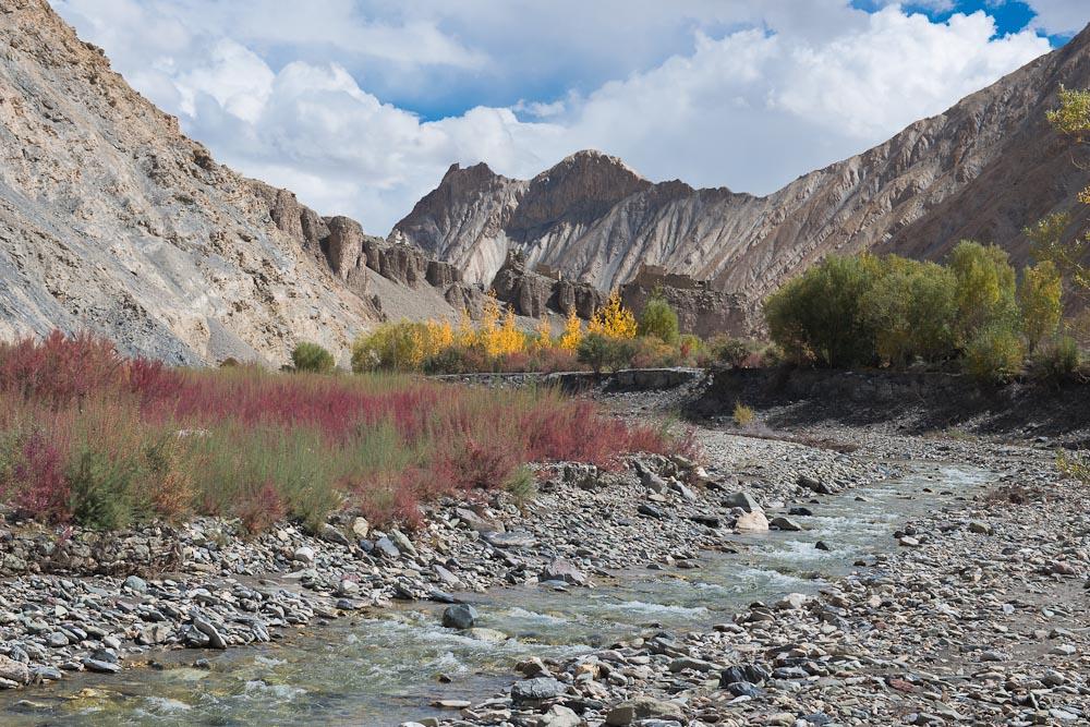 Woche 40: Auch in Ladakh ist nun der Herbst eingezogen - es ist bereits empfindlich kalt
