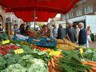Wochenmarkt mit Plausch