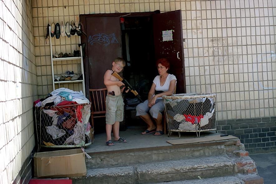 Wohnblock in der Ukraine