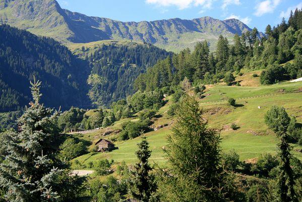 ...Wohnt hier Heidi?... Alpen vor dem St. Gotthard-Tunnel