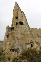 Wohnungen in Kappadokien (mittlere Türkei)