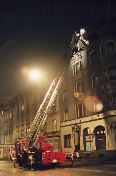 Wohnungsbrand in der Nacht