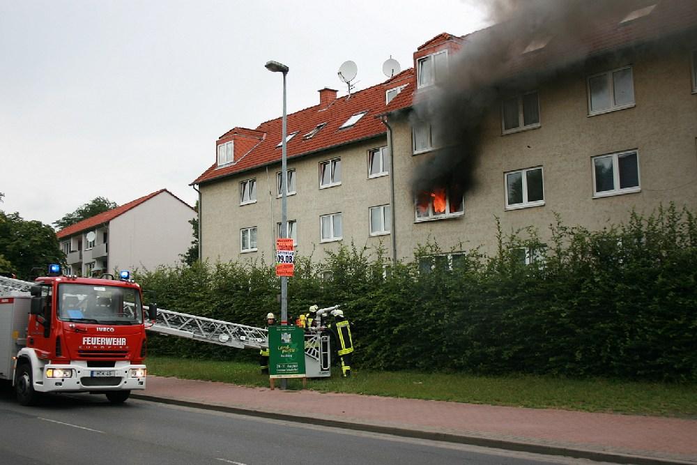 Wohnungsbrand nach Brandstiftung