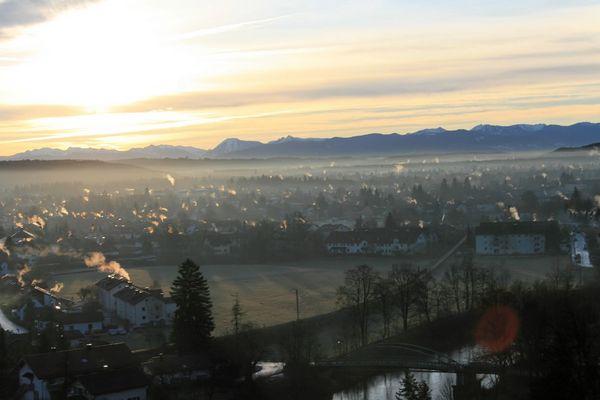 Wolfratshausen von oben