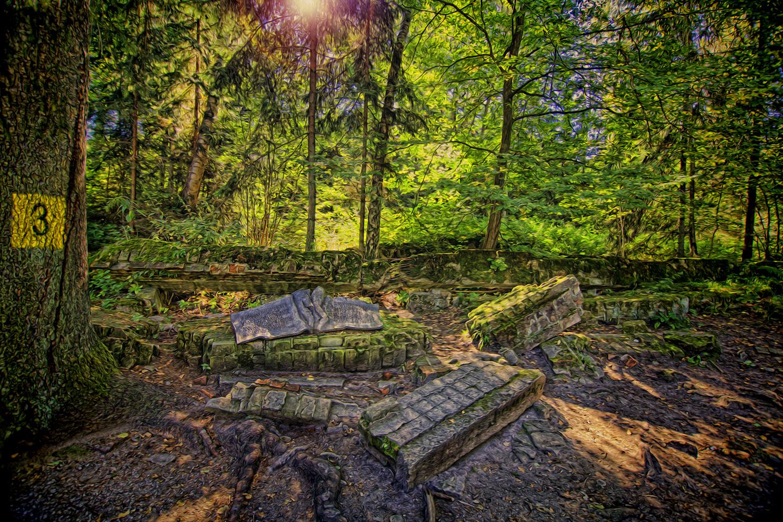 Wolfsschanze im ehemaligen Ostpreußen
