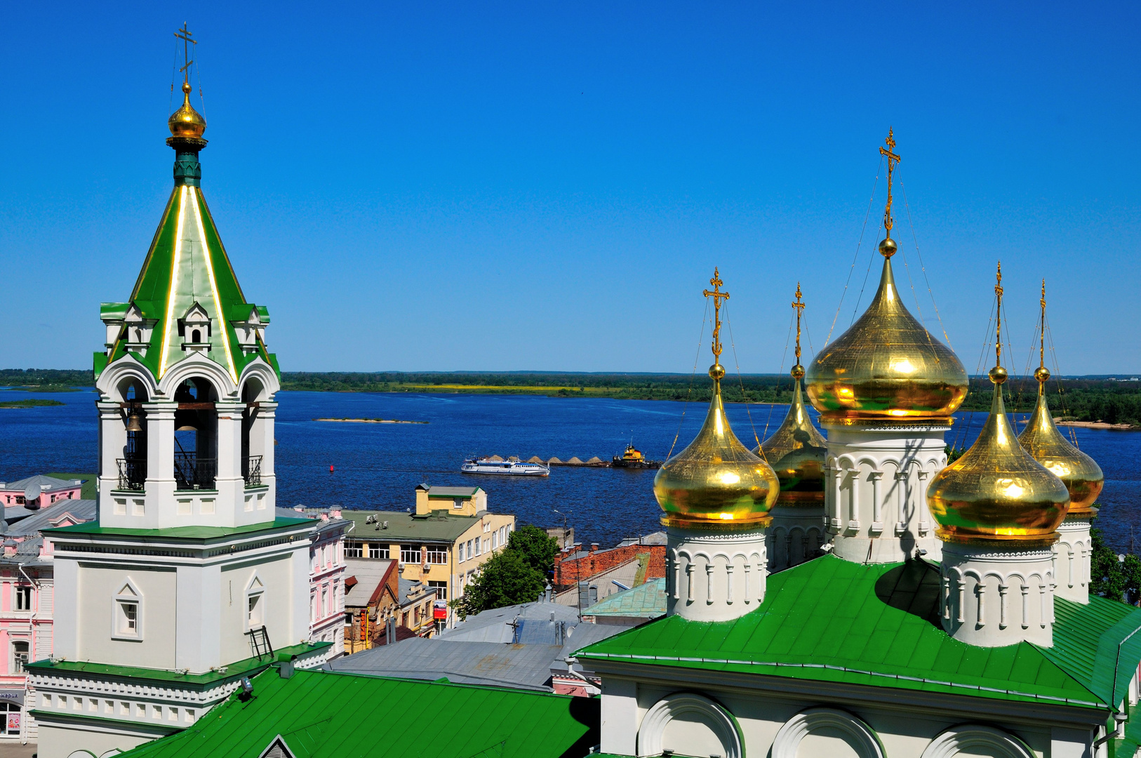 Wolga bei Nizhny Novgorod