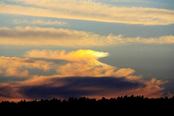 Wolke am Abendhimmel