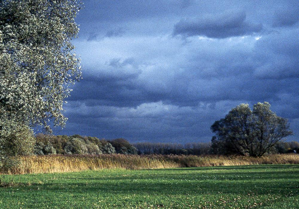 Wolken am Biedensand