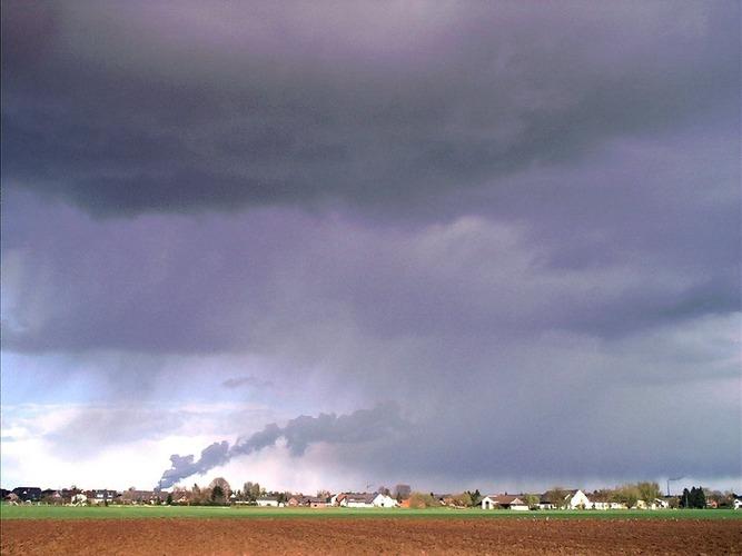 Wolken am Niederrhein