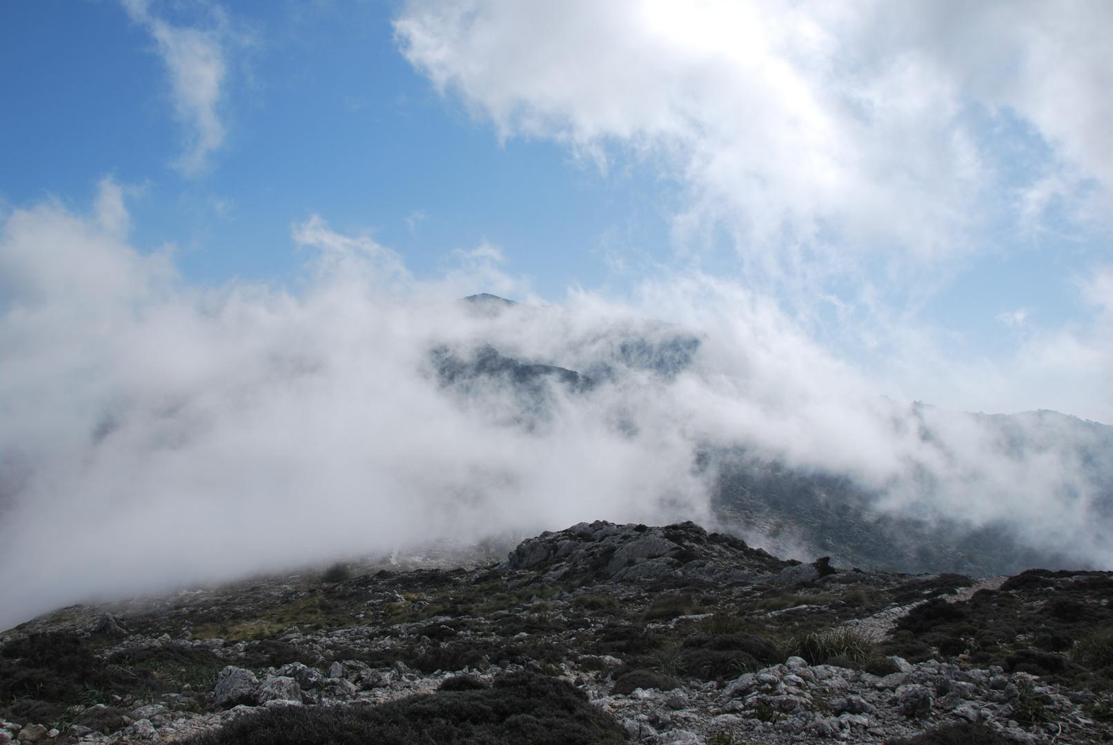 Wolken am Teix