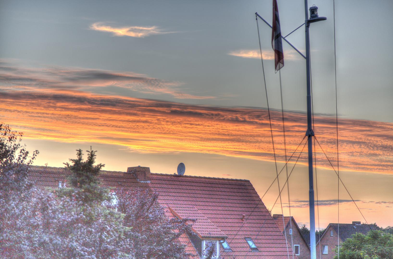 Wolken anl. Sonnenuntergang