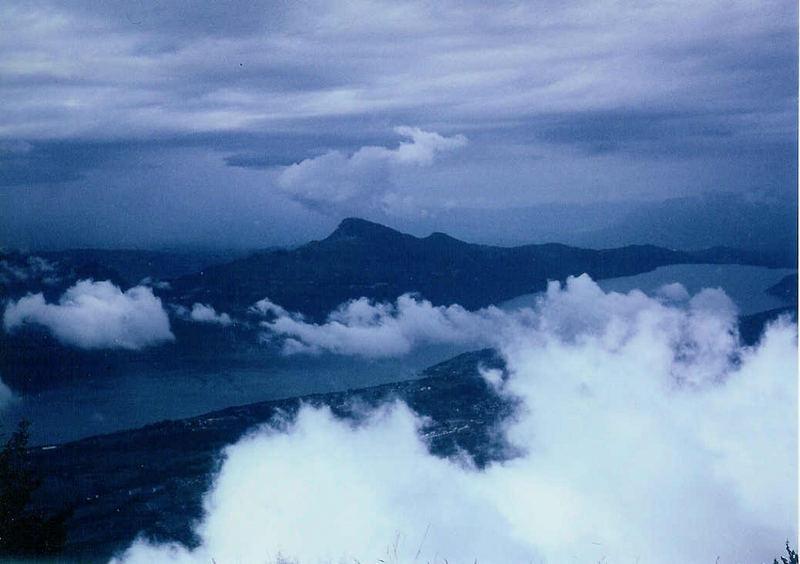 Wolken auf dem Lac du Bourget