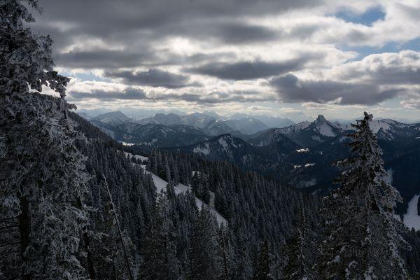 Wolken auf dem Wallberg