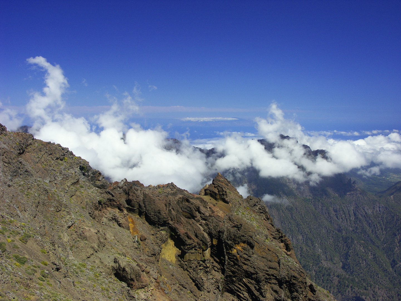 Wolken aus der Caldera
