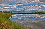 Wolken im See