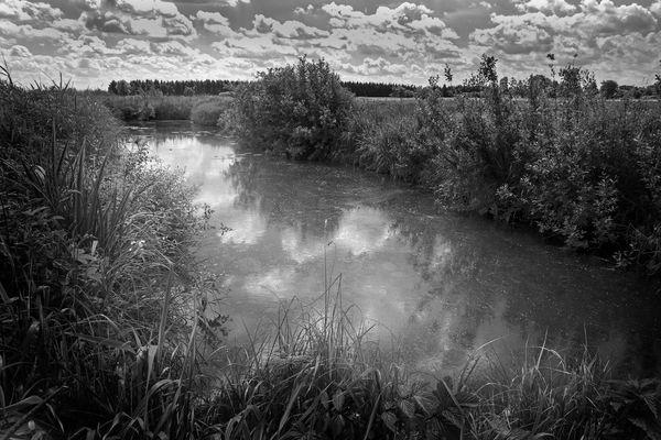Wolken im Wasser