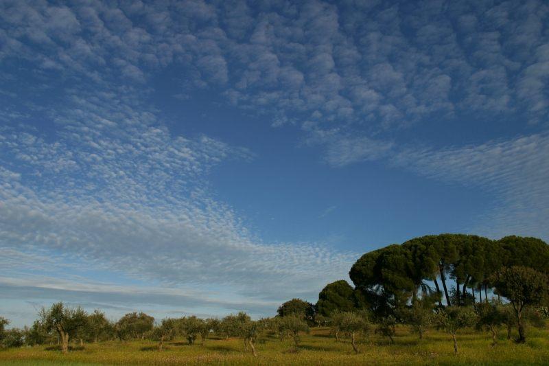 Wolken in der Extremadura