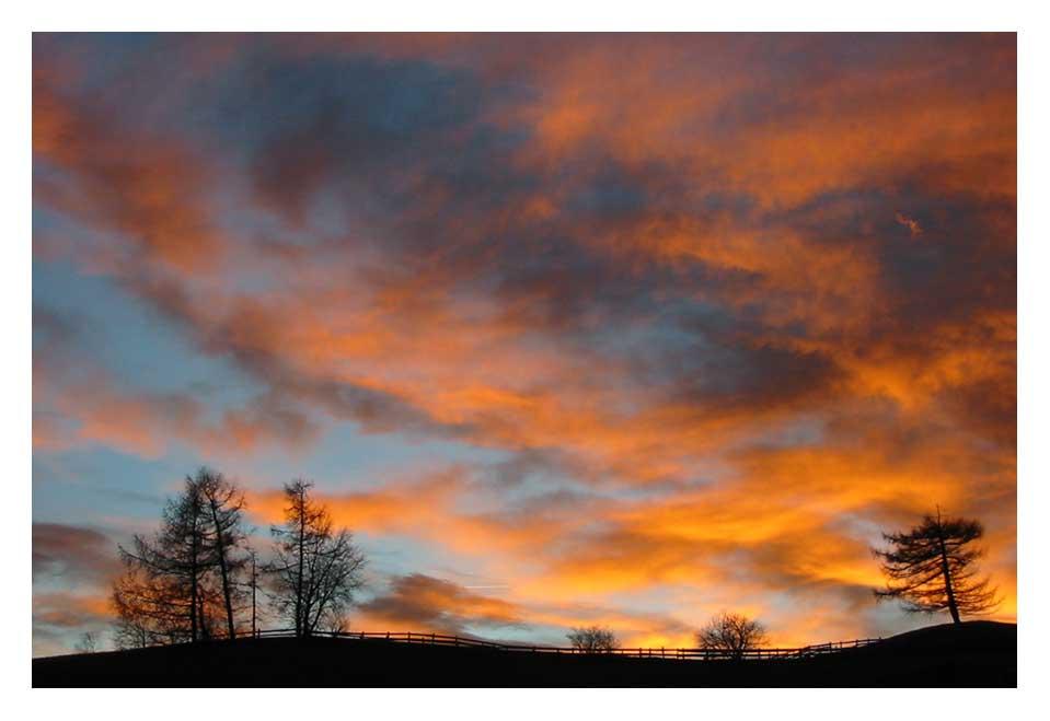 Wolken in Flammen
