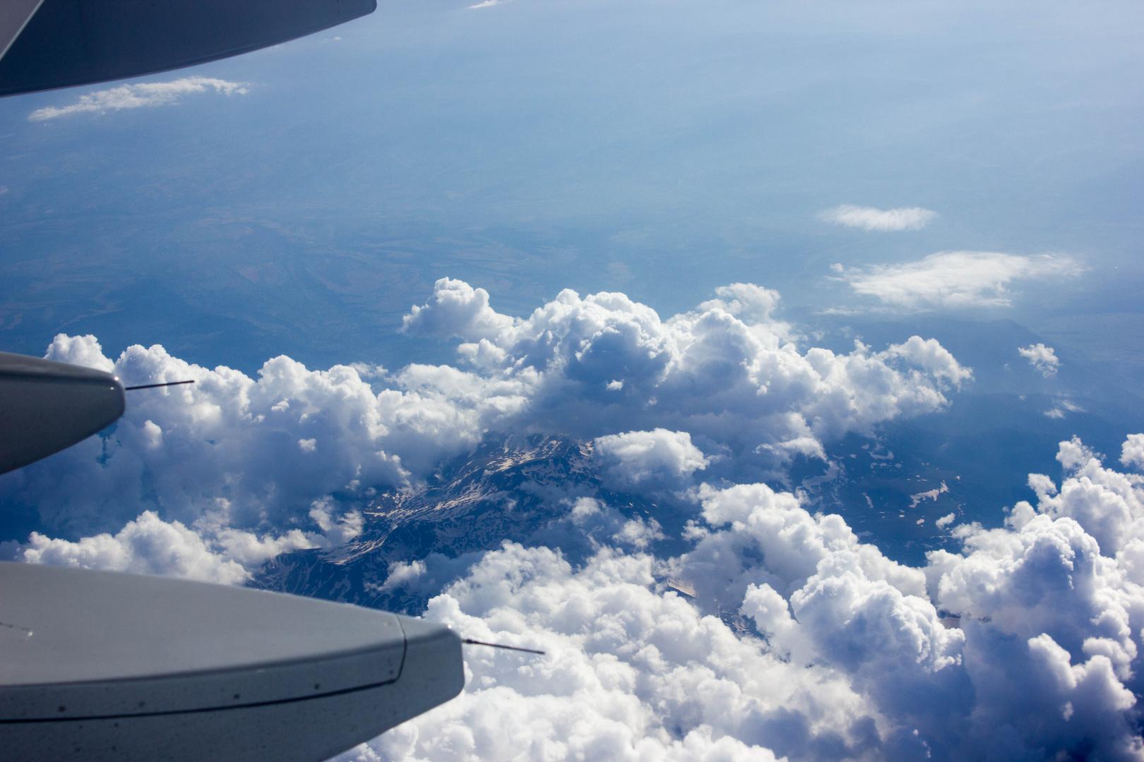 Wolken mit Himmel