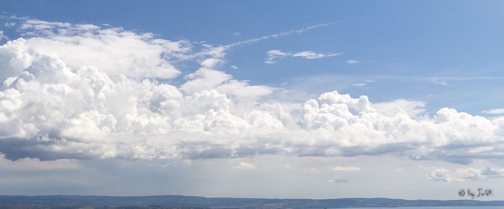 Wolken mit Polfilter