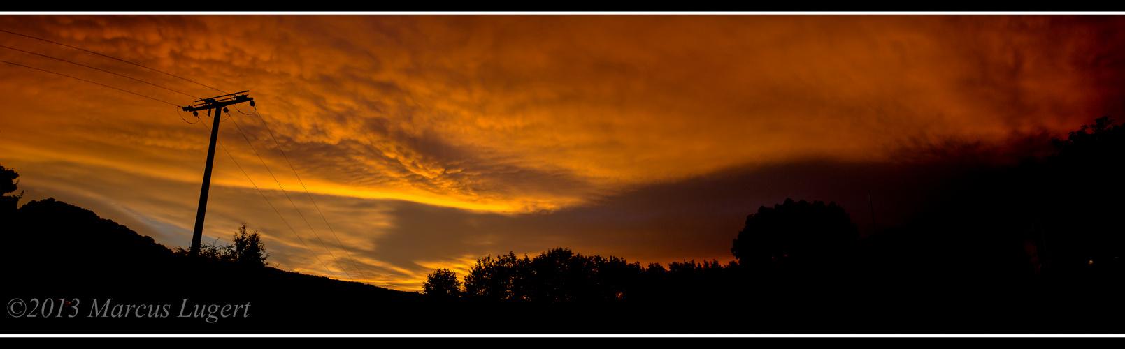 Wolken nach Gewitter