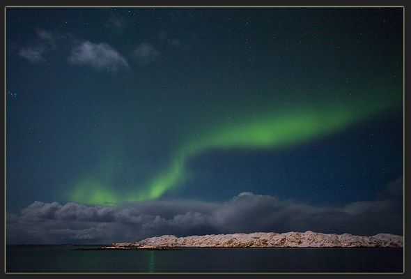 Wolken, Sterne und Nordlicht....