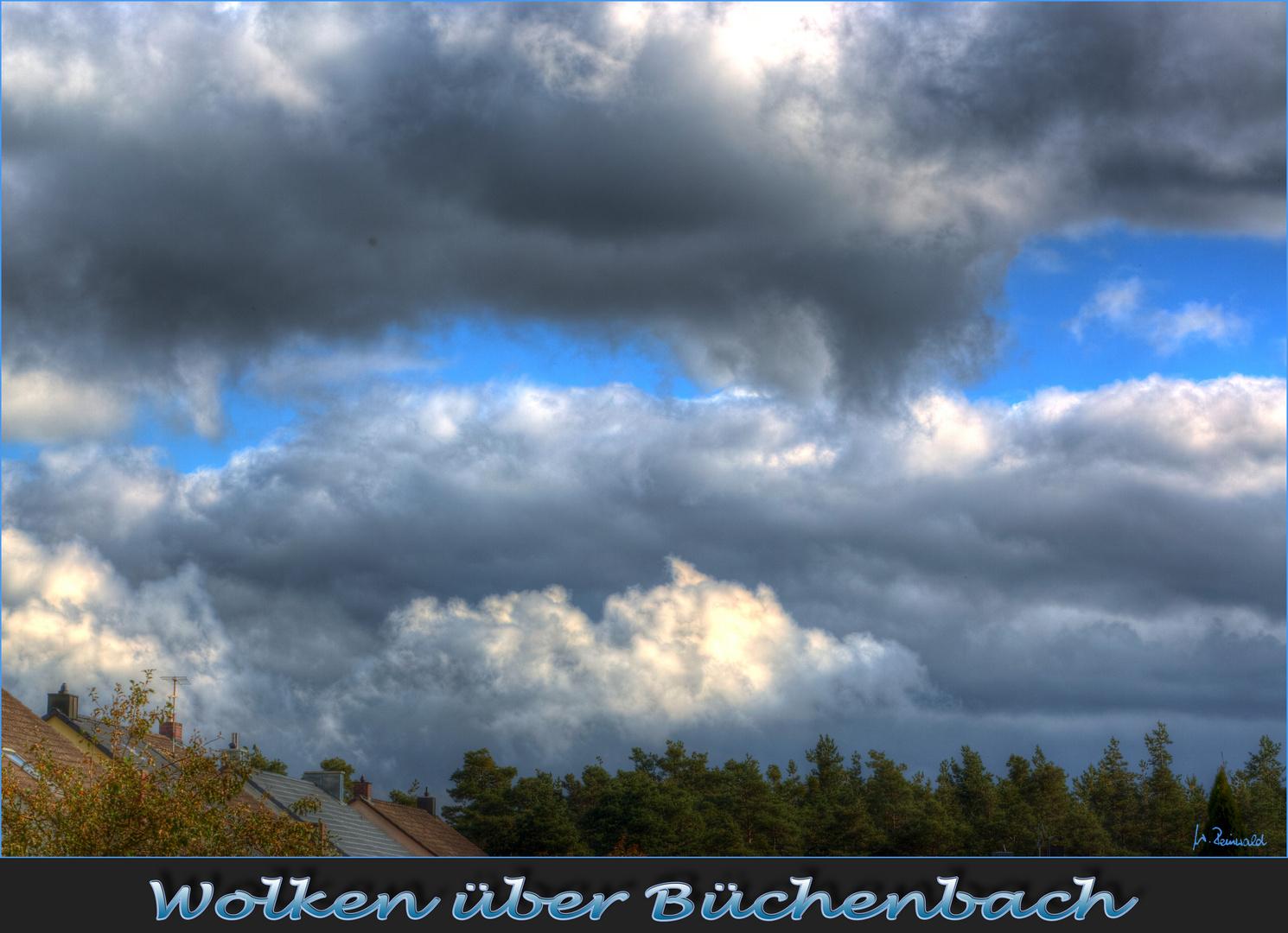 Wolken über Büchenbach