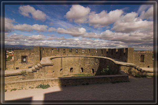 Wolken über Carcassonne