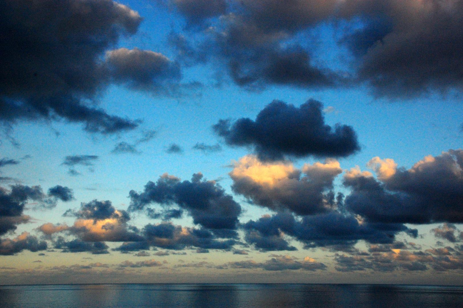 Wolken über dem Atlantik