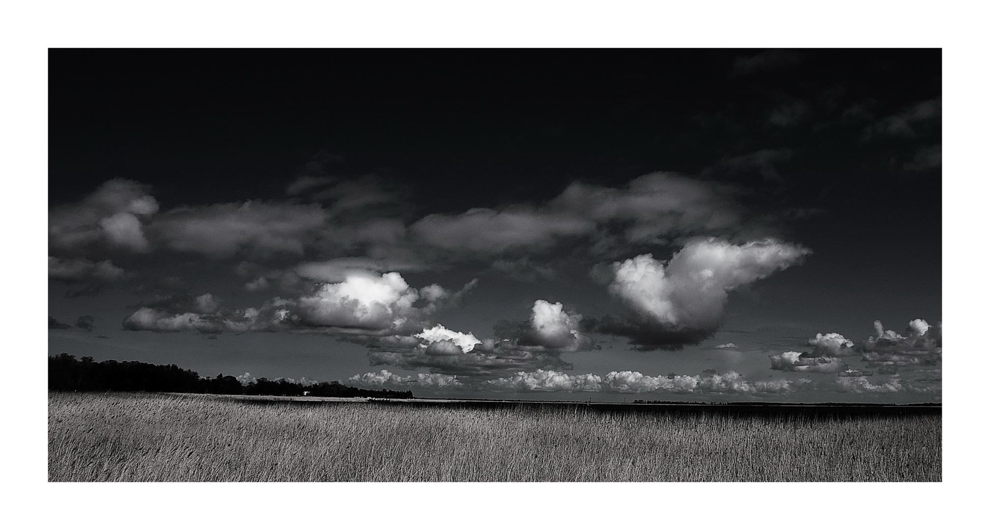 Wolken über dem Bodden