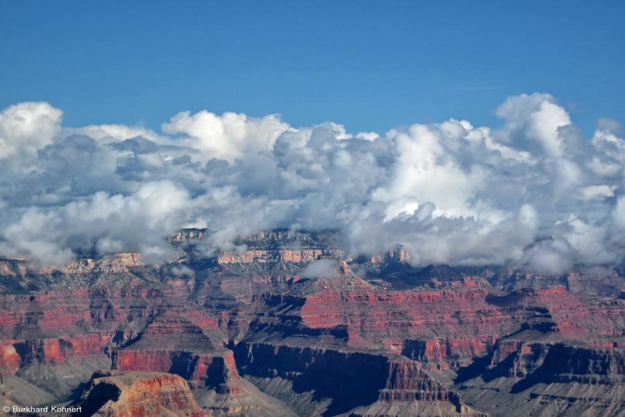Wolken über dem Grand Canyon